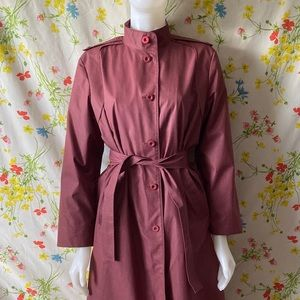LONDON FOG MAUVE VINTAGE TRENCH COAT size 12